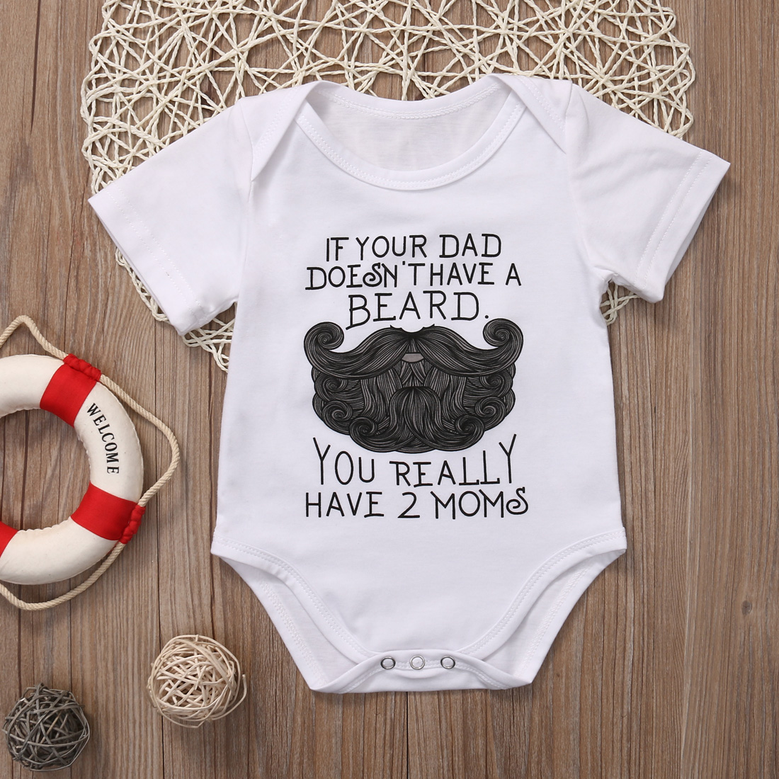 4abf7e15f Funny Newborn Baby Girl Boy Romper Baby grow Clothes Playsuit ...