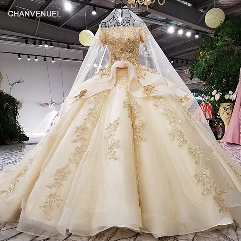 LS62771 royal golden shiny party   dress   off shoulder lace up back   evening     dress   with heavy flowers and beading 2018 china online