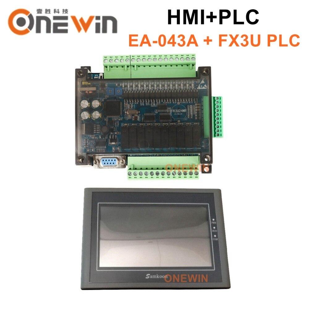 EA-043A samkoon HMI touch screen da 4.3 pollici 480*272 e FX3U serie PLC scheda di controllo industriale con DB9 di Comunicazione lineaEA-043A samkoon HMI touch screen da 4.3 pollici 480*272 e FX3U serie PLC scheda di controllo industriale con DB9 di Comunicazione linea