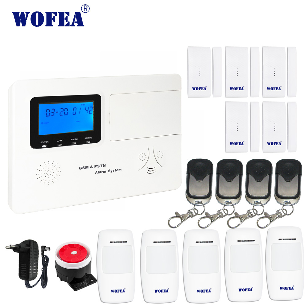 wofea home security GSM alarm system with voice two way intercom APP control relay output work