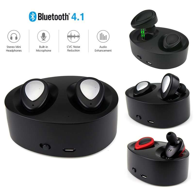 Daono TWS K2 Bluetooth 4.1 True Wireless Stereo earphones headset handsfree earbud with MIC charging box for smartphones k6 voyager legend bluetooth headset handsfree wireless stereo 4 1 bluetooth car headphones a gift earphones carrying box