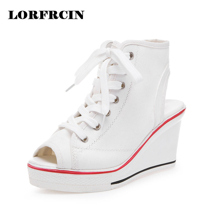 Women Summer Canvas Shoes Woman Wedges White Sandal Platform Shoes Open Toe Wedge Sandals Tenis Feminino Black Zapatos Mujer 2017 new summer shoes woman platform sandals women genuine leather casual open toe gladiator wedges women shoes zapatos mujer