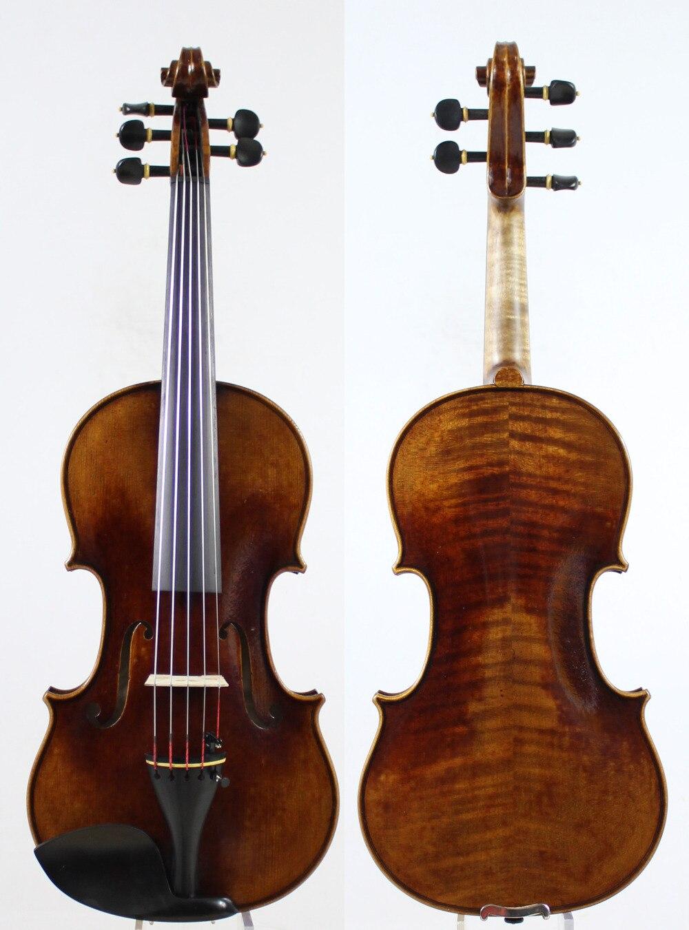 5 saiten Violine violino! Kopie Stradivaris 1715 Modell! Antiqued öl lack. Master Ton! Fall Bogen Kolophonium! Freies Verschiffen! Aubert Brücke!