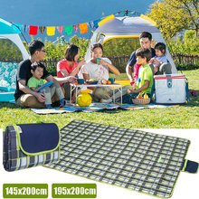 Outdoor Picnic Blanket Beach Mat Camping Mat Waterproof Foldable Picnic Plaid Beach Blanket Baby Multiplayer Tourist Play Mat(China)