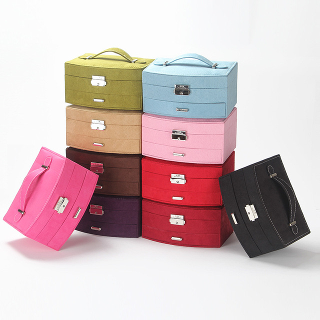 Guanya Portable Fashion Suede Jewelry Box