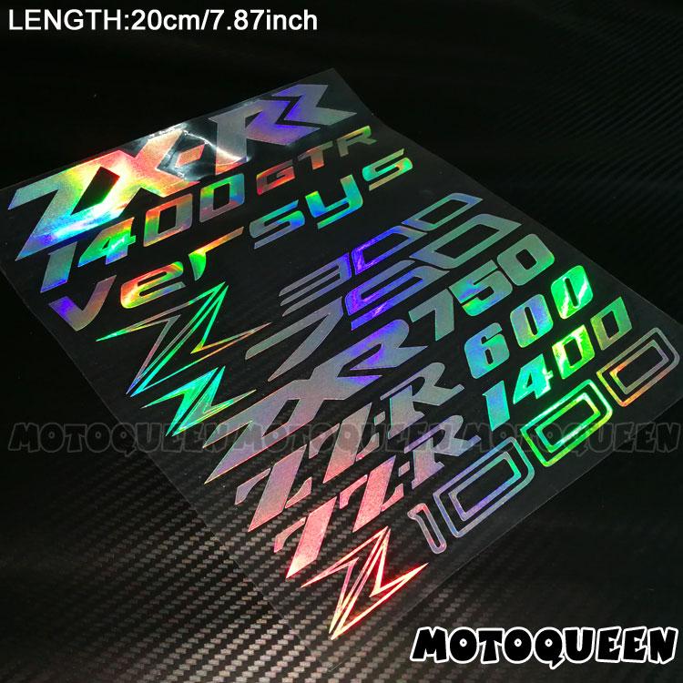 2X Gas Fuel Tank Stickers For Kawasaki Z1000 Z750 Z750R Versys 650 1000