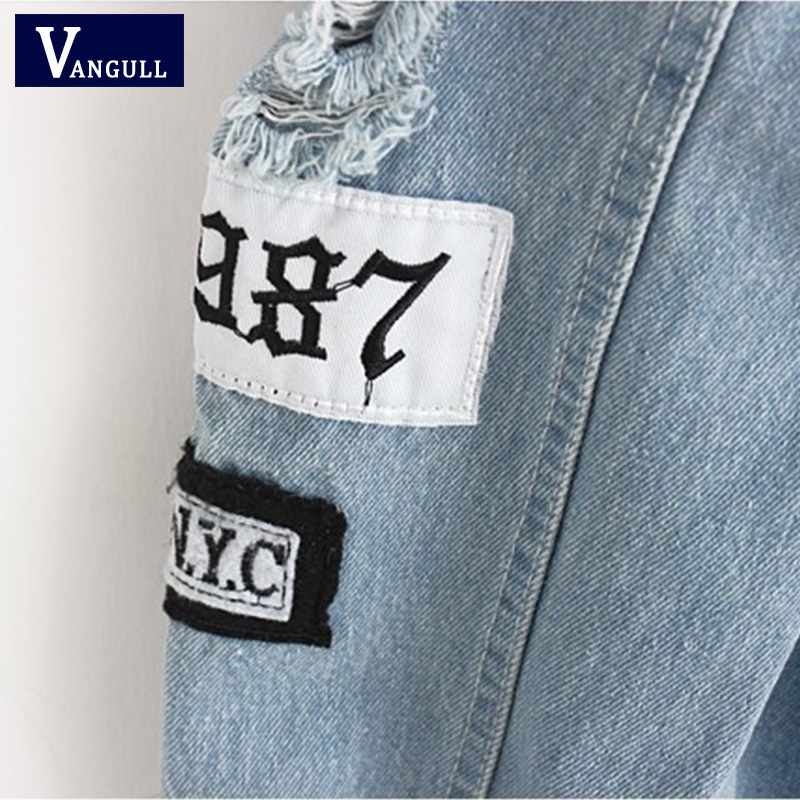 Women Frayed Denim Bomber Jacket Appliques Print Where Is My Mind Lady Vintage Elegant Outwear Autumn Women Frayed Denim Bomber Jacket Appliques Print Where Is My Mind Lady Vintage Elegant Outwear Autumn Fashion Coat Vangull 2018