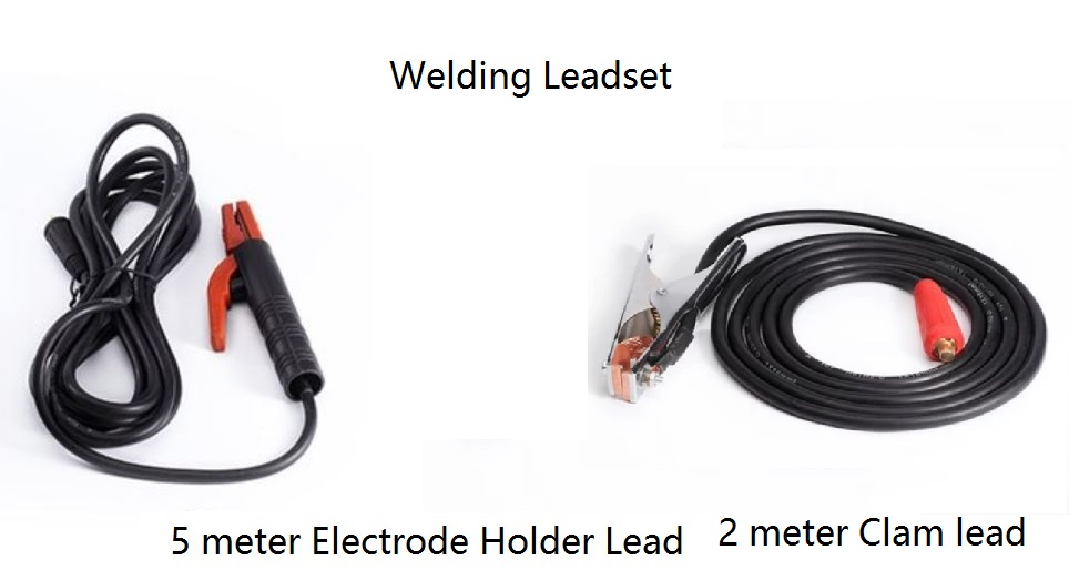 Leadset Professional Welding Cable Assembly 300A Holder 5M & 200A Clamp 2M 16sqmm Copper Cable DKJ10-25 Connector Plug Socket 300a electrode holder arc welding plug 10 25mm lead cable 3 meter use in welding machine