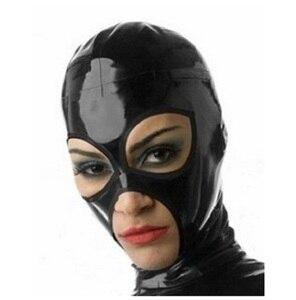 Image 5 - Latex costumes hoods masks w black zipper