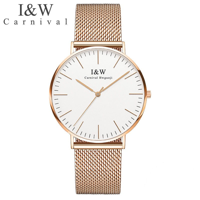 Carnival iw authentic ladies watch quartz watch steel mesh with noble womens watch waterproof ultra-thin simple womens watchCarnival iw authentic ladies watch quartz watch steel mesh with noble womens watch waterproof ultra-thin simple womens watch