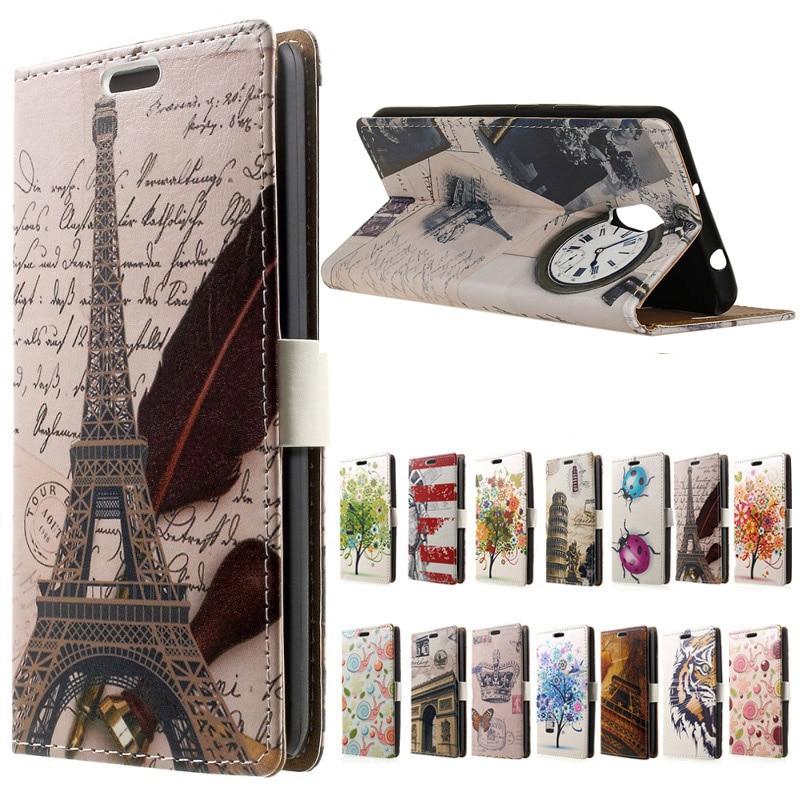 Lenovo P2 case Eiffel Tower cartoon Flip Leather Wallet Cover case for Flip Lenovo P2 P2 c72 P2 a42 5.5 inch phone cases coque