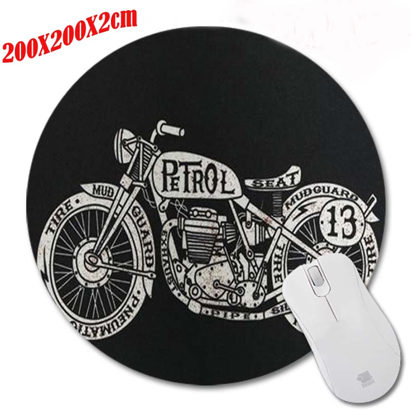 Retro Camera New High Quality Pattern Durable Gaming Optical Computer Mouse Mat Mice Pads Soft Silicone Round Mouse Pad
