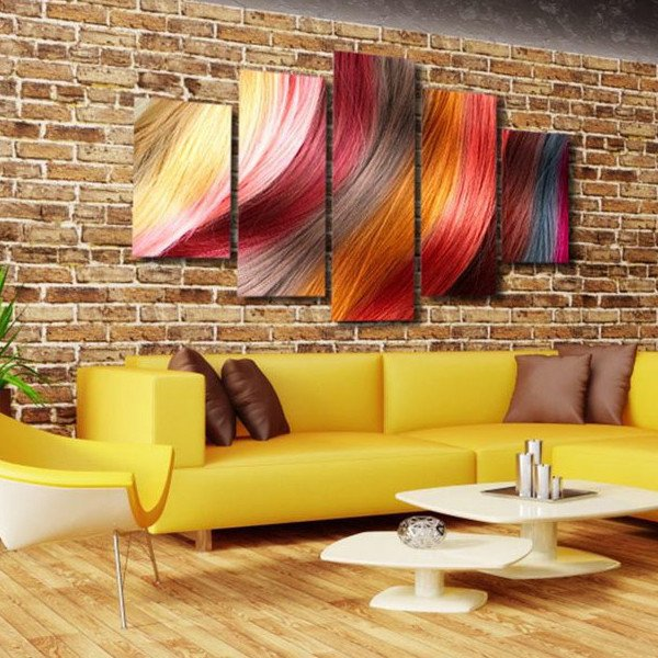 5 Panels Canvas Prints Glamorous Hair Multi Panel canvas painting ...