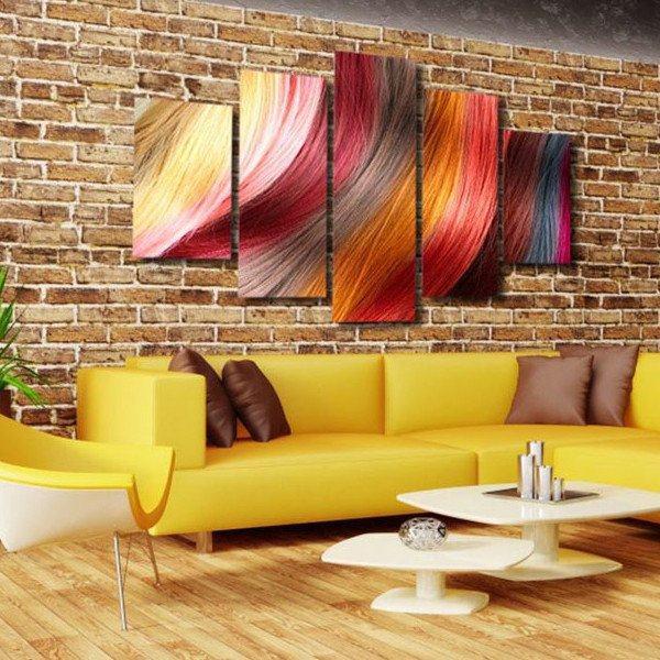 Online Shop 5 Panels Canvas Prints Glamorous Hair barbershop Multi ...