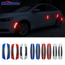 DOOFOTO 3D Car Door Reflective Tape Wheel Eyebrow Warning Strip Safety Sticker Styling For Ford Volkswagen Mazda BMW Audi