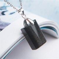 Natural Crystal Jewelry Pendant Black Moonstone Sunstone Gem Bead Stone Charm Pendants Necklace For Women Men Female 20*14*8mm