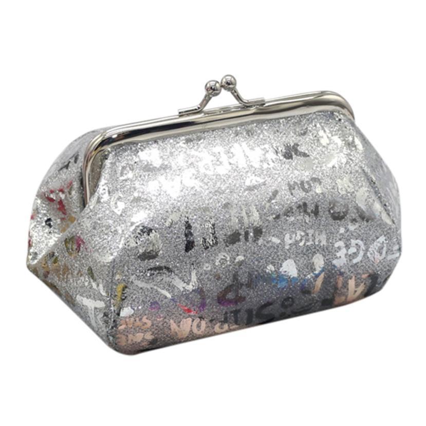 xiniu Women Girls Reflector Laser Coin Purse Wallet Bag Change Pouch Key Holder monedero mujer para monedas girls purse