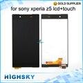 Venda quente para sony z5 display lcd xperia z5 e6653 e6603 E6633 Com Tela de Toque Digitador Assembléia Completa 1 Peça Frete Grátis