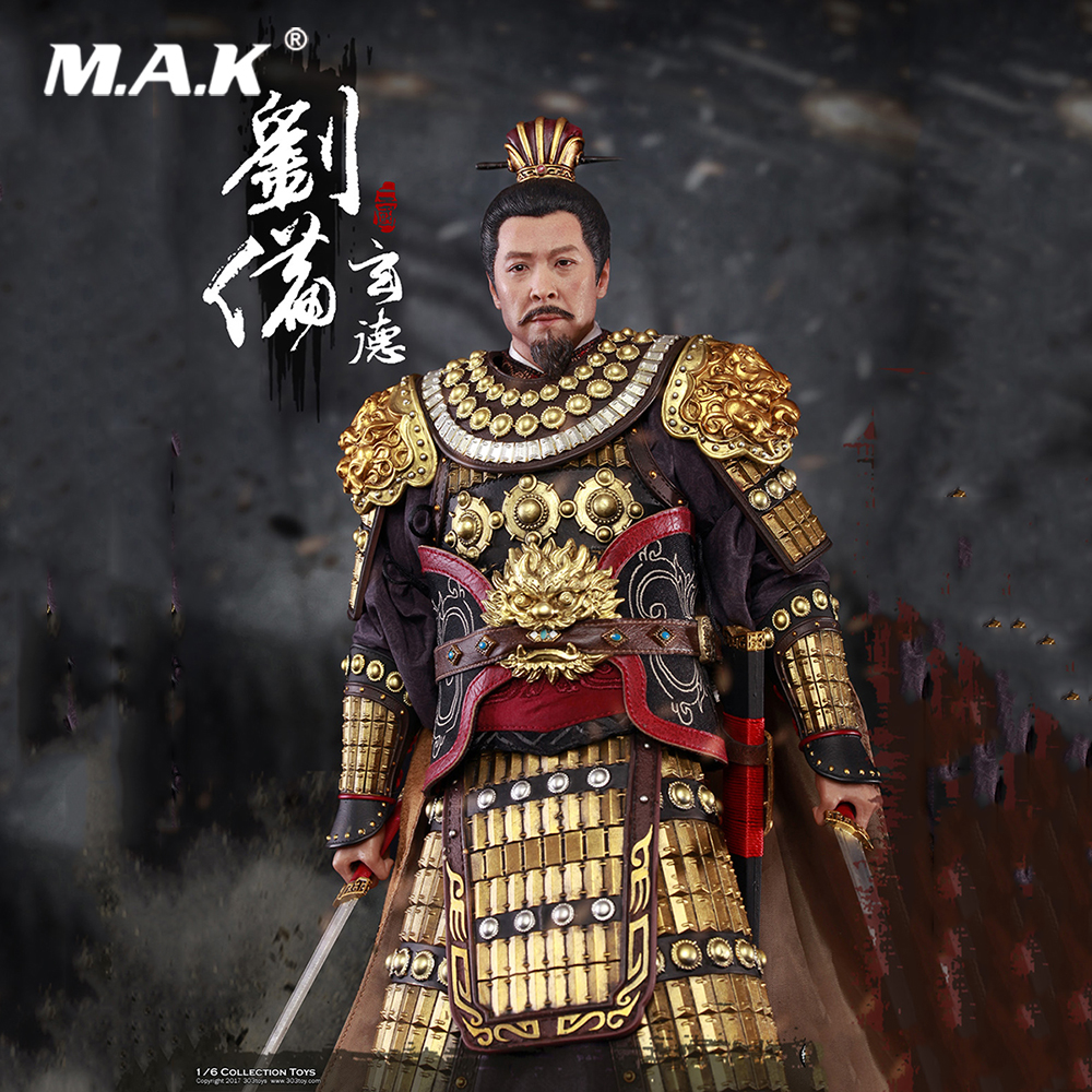 NO.320 Collectible Full Set Action Figure Model Toys 1/6 Three Kingdoms Liu Bei Xuan De Battle Ver. Figure for Fans Holiday Gift robocop action figure 7 battle damaged ver murphy model toys best kids gifts collections