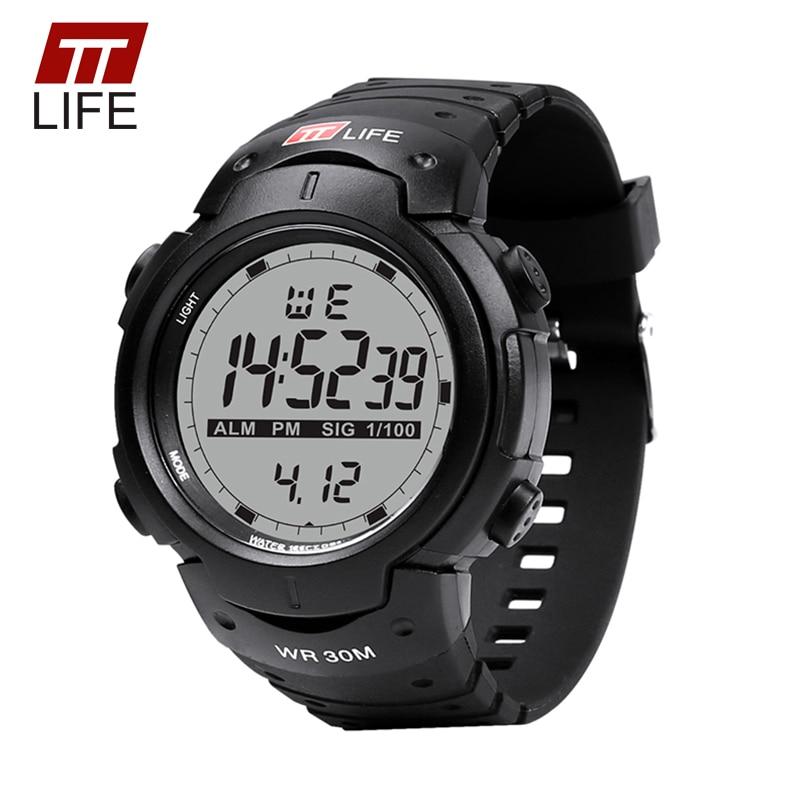 TTLIFE Relojes Hombres Deportes Electrónicos Reloj Analógico Reloj de Los Hombres 2017 de la Marca de Lujo Impermeable Luz de Fondo Digital Relojes de Pulsera para Hombres