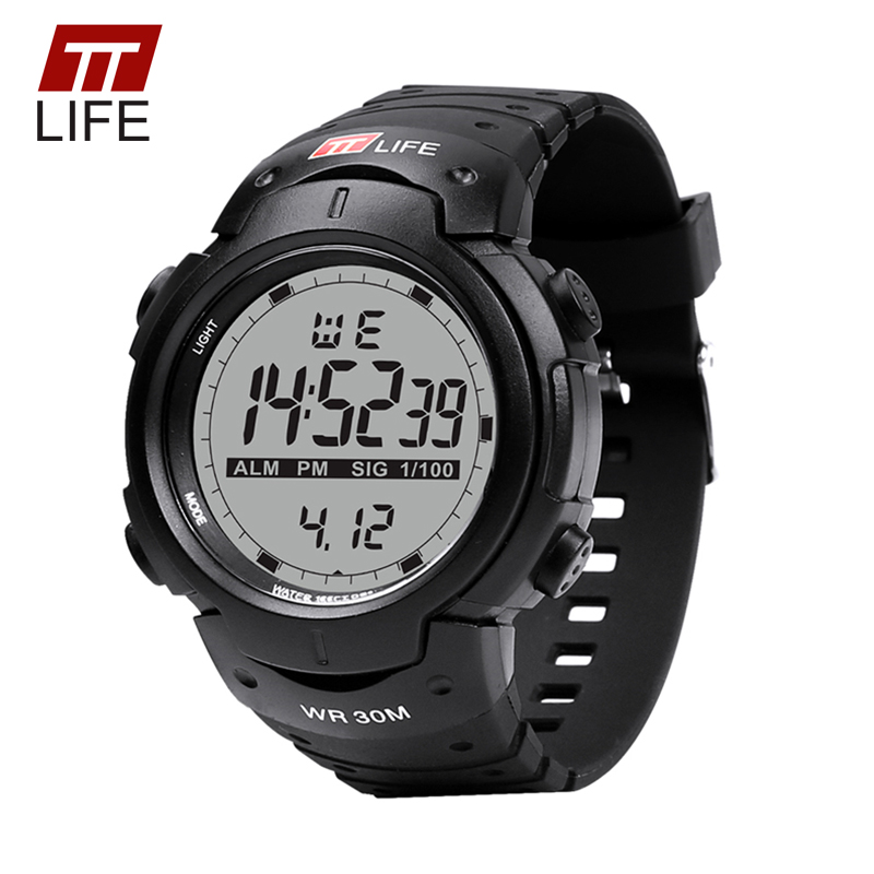 TTLIFE Watches Men Sports Electronic Digital Analog Clock Watch Men 2017 Luxury Brand Waterproof Backlight Wrist Watches for Men