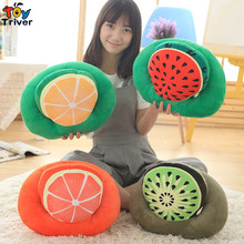 Triver Toy Plush noon break nap time fruit pillow watermelon/kiwi fruit/lemon/grapefruit Office desk Nap Free Shipping
