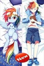 Japón Anime Abraza consejo de Funda de Almohada 150*50 Mi Pequeño Pony Rainbow Dash