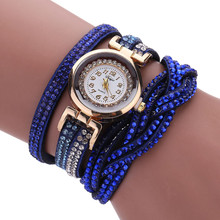 DUOYA luxury bracelet watches women fashion Ladies Crystal Gold Quartz Wrist watch Rhinestone Relogios Femininos #121