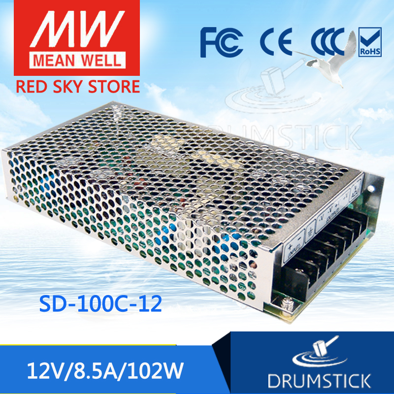цена на Genuine MEAN WELL SD-100C-12 12V 8.5A meanwell SD-100 12V 102W Single Output DC-DC Converter