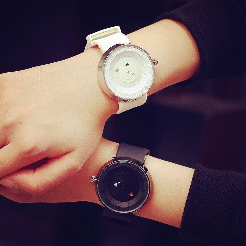 цены на Futuristic luxury men women Watch fashion White and black military quartz  sports watches Lovers' wristwatch Relogio Feminino в интернет-магазинах