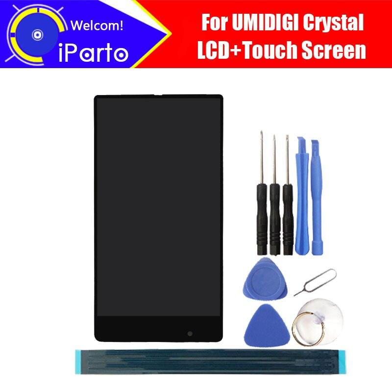 5.5 дюймов umidigi Кристалл ЖК-дисплей Дисплей + Сенсорный экран планшета Ассамблеи 100% тестирование ЖК-дисплей + сенсорный дигитайзер для UMI крис...