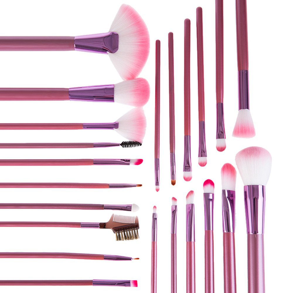 cosqueen 22 Pcs /lot Cosmetic Makeup Brushes Set Professional Comestic Make Up Brush With Synthetic Hair Pure Color Bag