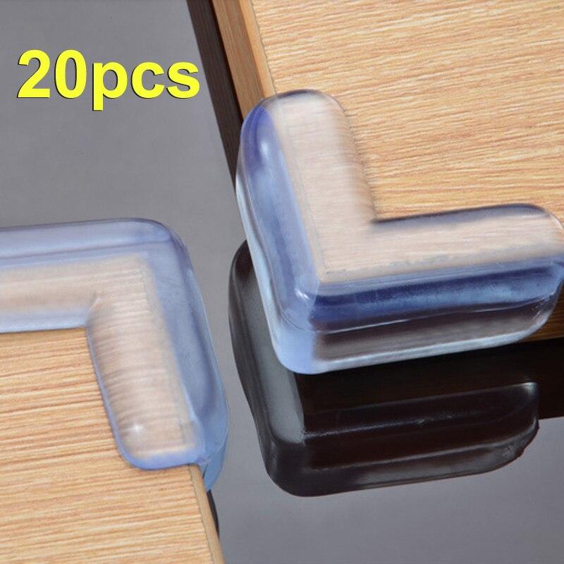 Quality 20pcs Baby Safety Corner Silica Gel Edge Corner Guards Soft Collision Angle Corner Protector Drop JY