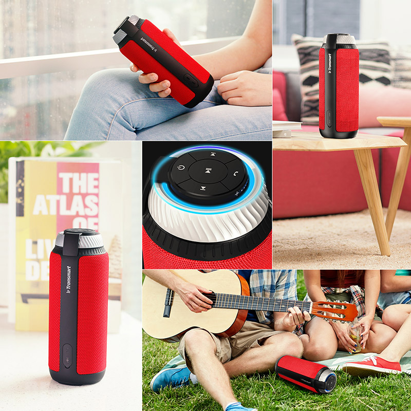 Tronsmart Élément T6 Bluetooth Haut-Parleur 25 w Portable Haut-Parleur avec 360 Stéréo Son Soundbar Colonne pour La Musique MP3 Lecteur - 5