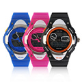 Hot! Casual Children 2 Time Zone Sport Watch Boys Girls Waterproof Watch