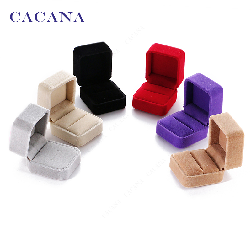 CACANA good quality jewelry packaging case rings box earrings carrying gift box