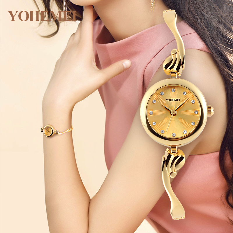 YOHEMEI Fashion Relogio Feminino Women's Bracelet Watches Ladies Clock Women Quartz Watch Relojes Reloj Mujer Montre Femme 0179 brand kimio reloj mujer fashion women pearl bracelet watches crystal dial quartz watch gold women watches relogio feminino clock