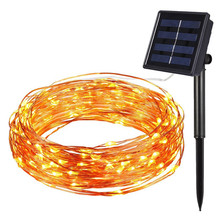 цена на 12M 17M 22M Solar Lamp Outdoor Garden Patio Lawn Fairy String Light Christmas Wedding Party Decoration