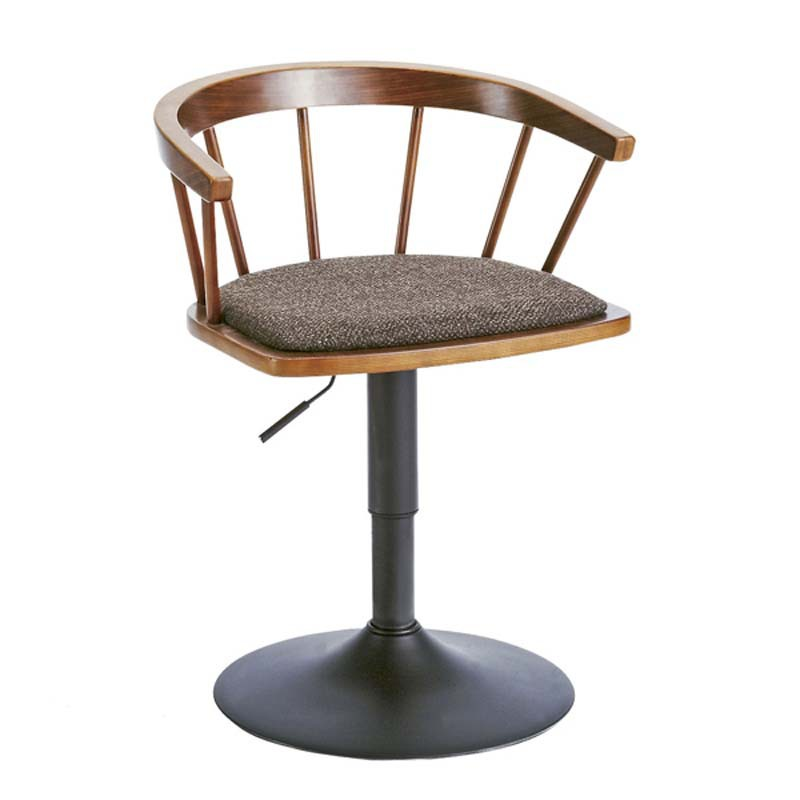 Solid Wood Simple Low Bar Chair Lifted Rotated Household Living Room Leisure Chair with Backrest Multi-function Dining Chair american style village solid wooden dining chair retro dining room backrest chair simple back brick chair household cafe seat