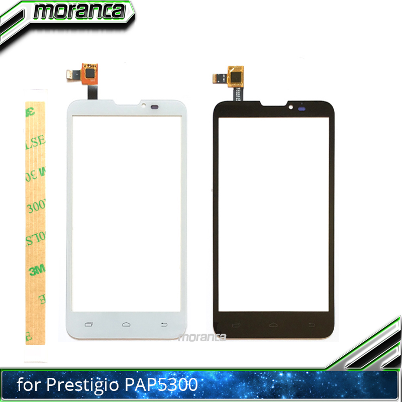 5.0 Touch Panel Front Glass Sensor Touchscreen Touch Screen Digitizer for Prestigio MultiPhone PAP 5300 Duo PAP5300 +3M Sticker