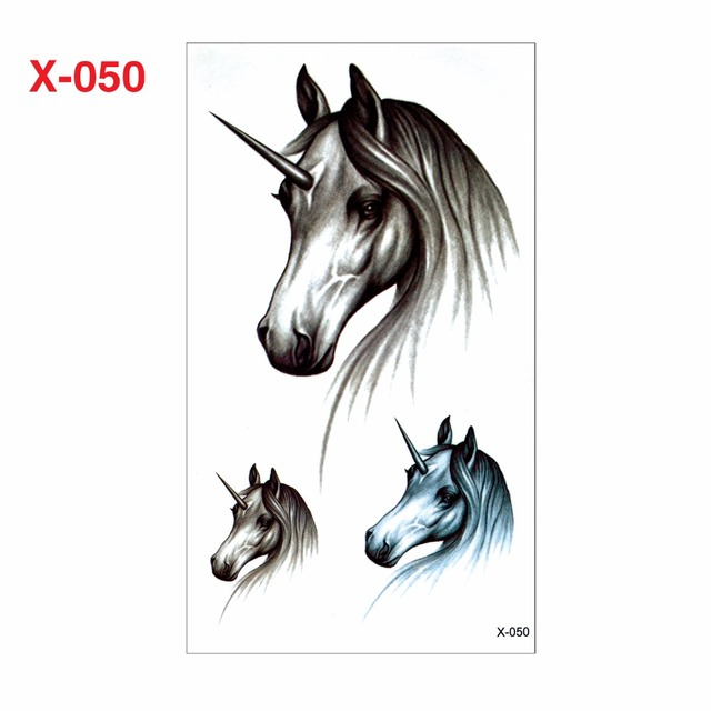 La Manera Caliente 3d Etiqueta Engomada Del Tatuaje Unicornio Hombre