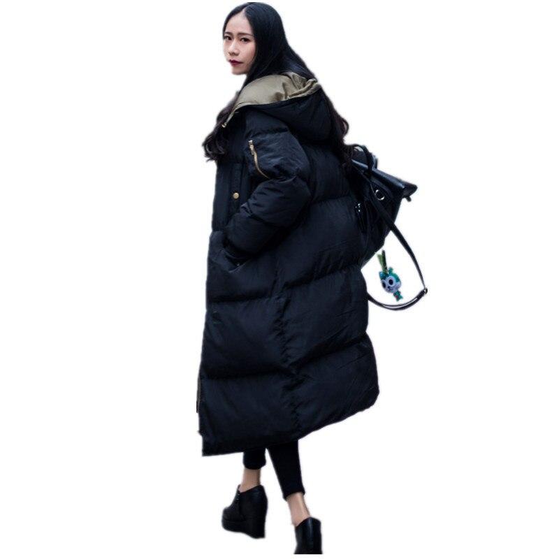 ALI TOPTINA VESTE FEMME Veste en Coton rembourré Overknee Bas Coton Femme Épaississement Lâche 2017 Hiver Manteau Haute Qualité Parka