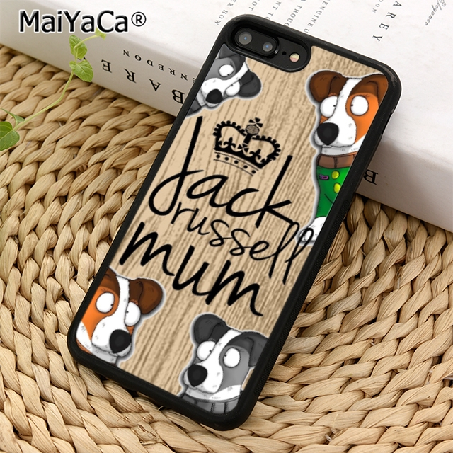 MaiYaCa Jack Russell Terrier Mum Dog Phone Case Cover For IPhone 5 5s 6 6s 7 8 X XR XS Max Samsung Galaxy S6 S7 Edge S8 S9 Plus