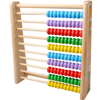 Wooden 10 row Abacus Counting Colorful Beads Maths Learning educational Kid Toy