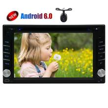Android 6.0 2Din Car gps Stereo DVD Player for Double 2din Auto Audios Support GPS Navigation Sat Car DVD Multimedia SWC FM Radi