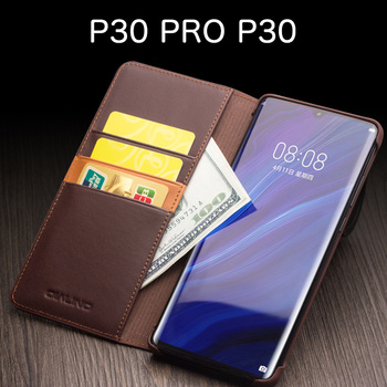 P30 PRO Cowhide Business flip phone case FOR Huawei P30 PRO P30 case cover P20 PRO P20 Genuine Leather фото
