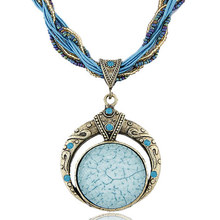 Baloki Bohemia Chunky Statement Choker Maxi Clavicle Anime Pendants Crystal Necklaces Women Jewelry Femme Collier A054