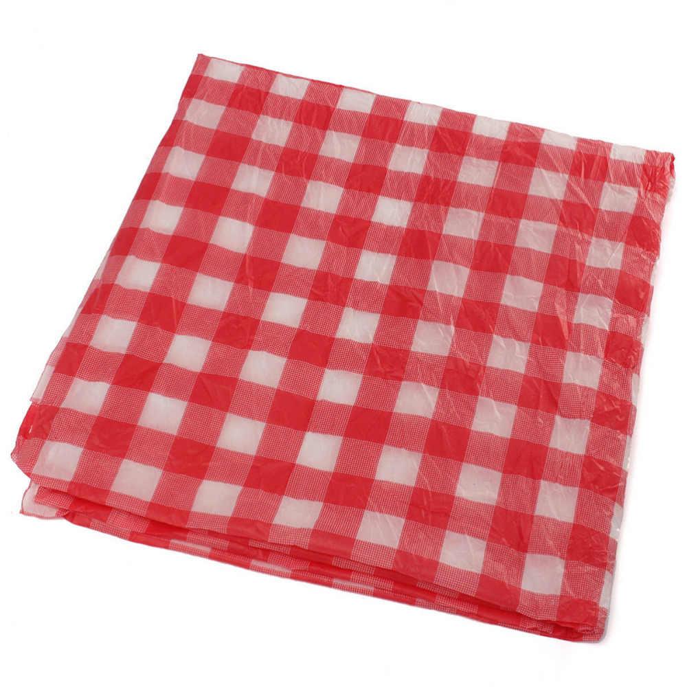 Pícnic al aire libre BBQ Party, mantel de plástico, revisa el guingán, mantel desechable rojo de 160cm x 160cm
