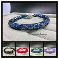 Wholesale Charm Bracelet Magnetic Clasp Full Austrian Crystals Fashion Stardust Bracelets For Women (B024)