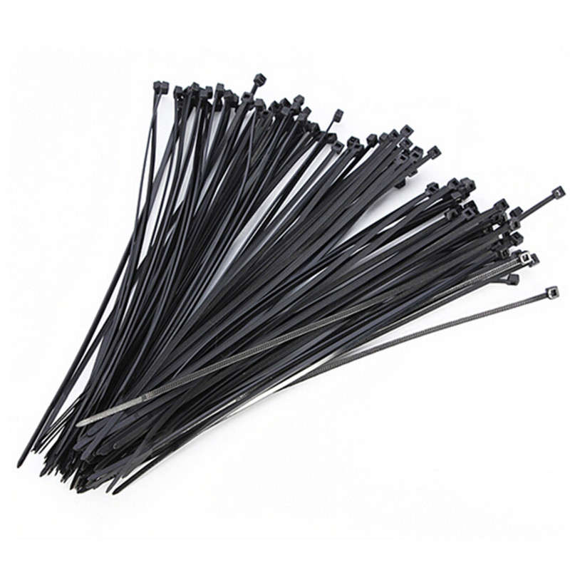 100pcs Black Cable Tie Plastic Nylon Cable Ties with Self-locking Network Nylon Cable Wire Organiser Zip Tie Cord Strap 3styles self tie dual pocket front dress